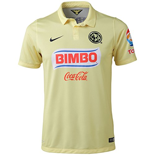 Nike Club America Short Sleeve Home Stadium Jersey-Boys (LEMON CHIFFON).