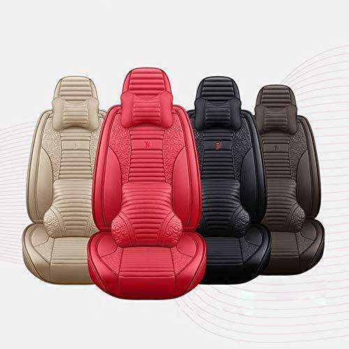 XKMY Fundas universales para asientos de coche de piel sintética perforadas en 3D para todas las estaciones (color: negro)