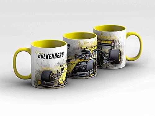 Formel 1 Tasse - Nico Hülkenberg - Renault F1 Team - Front gelb Kaffeebecher