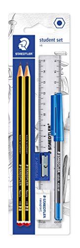 Staedtler - Conjunto de lápices, goma de borrar, bolígrafo y regla