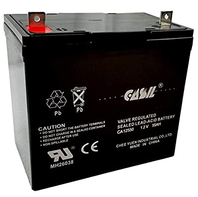 12v 55ah Group 22NF Power Boat Pontoon Electric Trolling Motor Deep Cycle Battery PowerCell PC12500 MK ES40 Powersonic Palmer Pride 600 Jazzy 1105 1107 1115 Jazzy 1100 1104 1120 2000 1170 1400