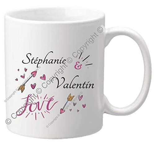 Mug personnalisé - Tasse cadeau pour la Saint Valentin - Homme ou femme - Cadeau romantique pour un couple – Cadeau de Mariage, anniversaire de mariage – Mug.SvG