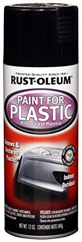 Rust-Oleum Black Automotive 248649 12-Ounce Paint for Plastic Spray, Gloss, 12 Ounce