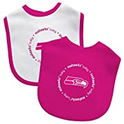 Officially Liscensed by the NFL and Baby Fanatic 100% Cotton Front/100%Polyester Backing 100% cotton front with velcro closure Team Color Fabric with Team Logo Makes a perfect gift!!