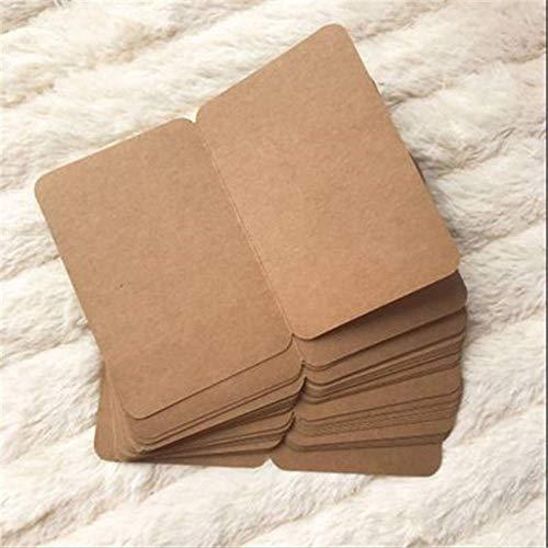 Wenskaarten BLTLYX 20 stks/set Vintage Kraftpapier Blanco Kaarten Gevouwen Wenskaart Schilderij Handgemaakte Diy Kaarten Blanco Kerstkaart 10.9 * 16cm Kraft