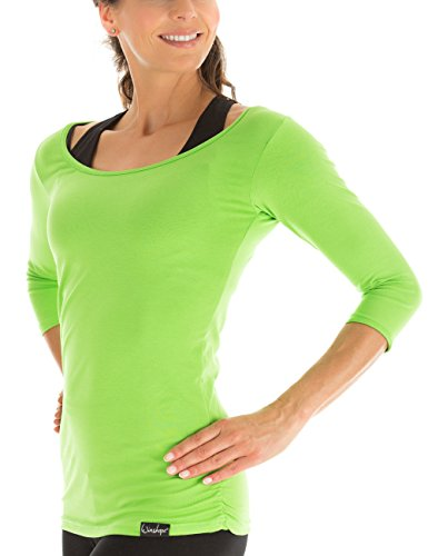 Winshape Damen Fitness Yoga Pilates 3/4-Arm Shirt WS4: Schlichtes Shirt für Frostbeulen
