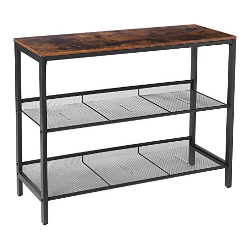 HOOBRO Console Table, Sofa Table with 2 Flat or Slant...