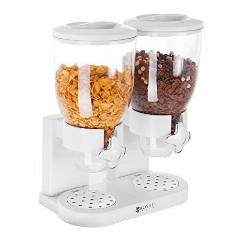 Royal Catering - RCCS-7L/2 - Dispensador de Cereales - 2 contenedores - 7 l