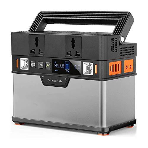 Generador Solar Portátil 372Wh Fuente Alimentación Batería Litio con Salida AC Onda Sinusoidal Pura 300W Puertos USB DC Tipo-C para Exteriores Camping Hogar Emergencia,110v