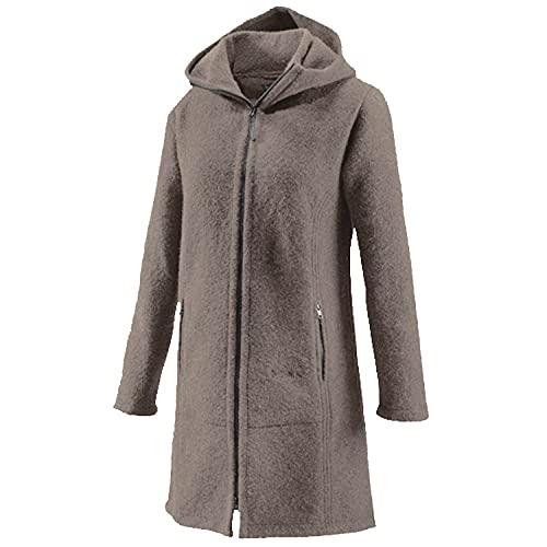 Mufflon Damen Wollmantel Rika,Farbe: granit grau, Größe: M