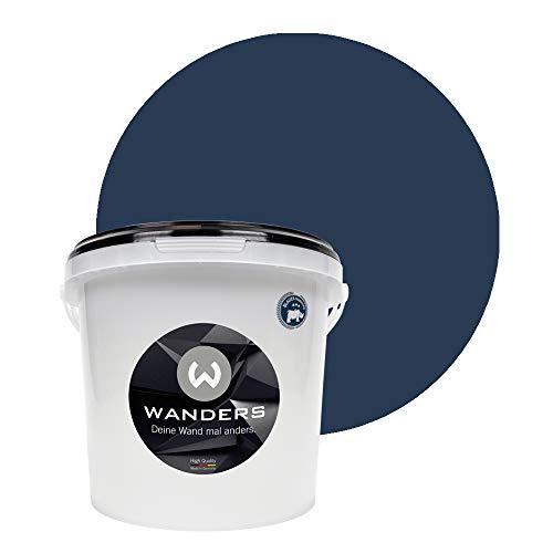 Wanders24® Tafelfarbe (3Liter, Mitternachtsblau) Blackboard Paint - Tafellack - abwischbare Wandfarbe - in 20 Farbtönen erhältlich - Made in Germany