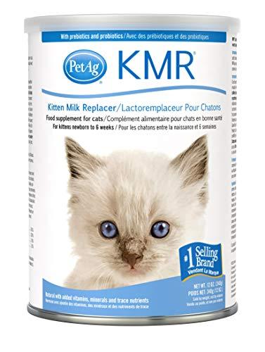 PetAg KMR Kitten Milk Replacer Powder - Prebiotics and Probiotics - Newborn to Six Weeks - Kitten...