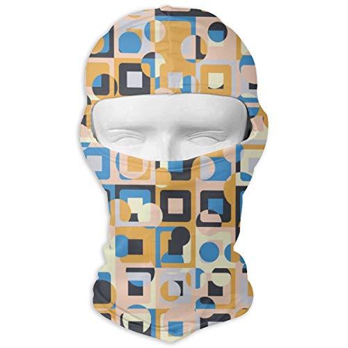 Sitear Gemaakt Van Concentrische Vierkanten Met Chaotische Kleurplaten Full Face Masker Hood Neck Warm Voor Mannen En Vrouwen Outdoor Sport Windproof Zonnecrème Aangepast