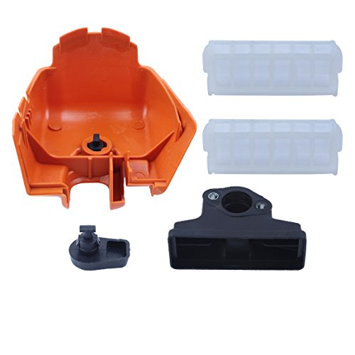 Haishine Air Filter Cover w/Twist Lock Knob Kit Fit Stihl MS210 MS230 MS250 023 025 MS 210 230 250 Chainsaw Replacement Parts
