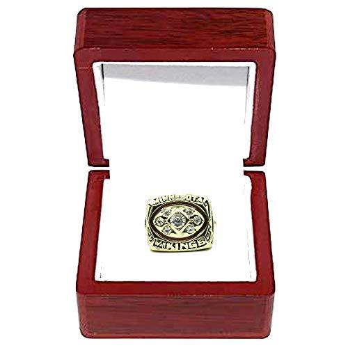 IMON LL Minnesota Vikings Meisterschaftsringe Replik NFC 1976 Champion für Fußballfans Andenken Herren Kollektion Geschenk Ring Größe 12 Gold Farbe mit Box