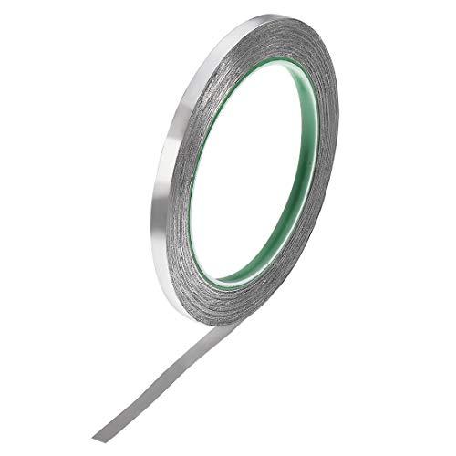 uxcell 6mm Alluminio Lamina Nastro Alta Temperatura Nastro per HVAC,Sigillazione,Rattoppamento Calda e Aria Condotti Adesivo Nastro 20m/65ft