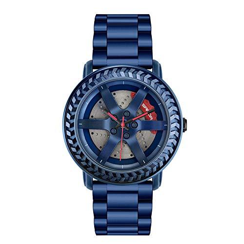SANDA Reloj Mujer,Mira los Relojes de la Tira de Acero de la Tendencia de la Moda del Estudiante con el Reloj de Ocio del Reloj de Cuarzo Reloj de los Hombres-Azul