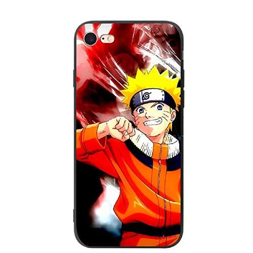Funda blanda para iPhone Sasuke Naruto Silicona Suave Funda para iPhone 11 11 Pro Max 6 6s 7 8 Plus X XS Max XR Naruto Manga Fan Covers (6, iPhone 6 6S Plus)