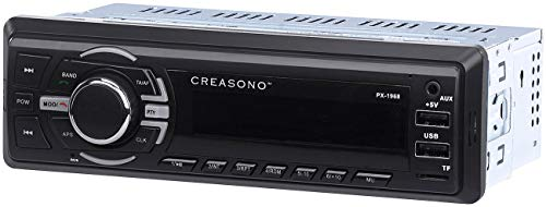 Creasono Radio für Auto, Bluetooth: MP3-Autoradio, Bluetooth, Freisprechfunktion, RDS, 2X USB, SD, 4X 50 W (USB Radio)
