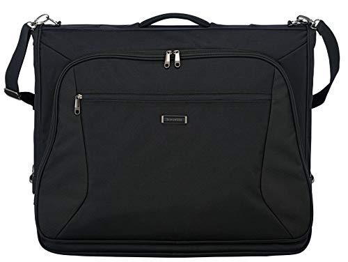 travelite große Kleidertasche für mehrere Anzüge und Hemden, Gepäck Serie MOBILE: Knitterfrei reisen mit der Kleidersack Anzugtasche BUSINESS, 001720-01, 110 cm, 60 Liter, schwarz