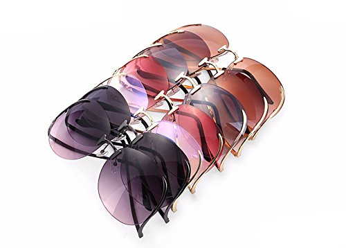 Tshing Ray - Gafas de sol - para mujer dorado Grey+Grey