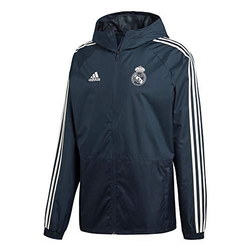 adidas Herren Real Madrid Regenjacke, tech Onix/Core White, XS