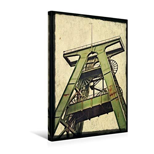 Premium Textil-Leinwand 30 x 45 cm Hoch-Format Lohberg Schacht 2   Wandbild, HD-Bild auf Keilrahmen, Fertigbild auf hochwertigem Vlies, Leinwanddruck von Christine Daus