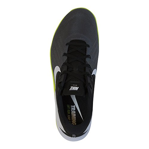 Nike Men's Metcon 3 Cross Training Sneaker, Black/White/Dark Grey/Volt, 11 D(M) US