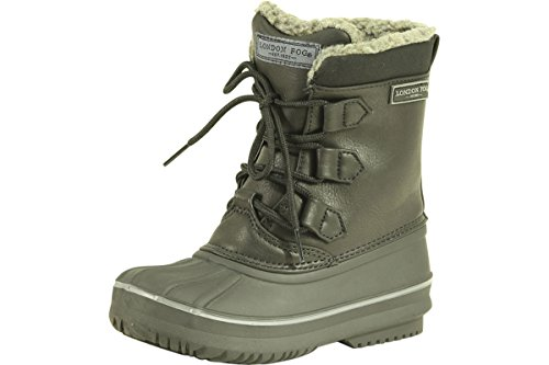 LONDON FOG Boys Cheshire Cold Weather Snow Boot Black 4