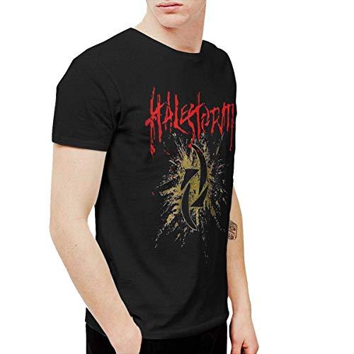 Welikee T-Shirt, Herren-Kurzarmshirt, Hale-Storm Men's Soft Short Sleeve T-Shirt Black
