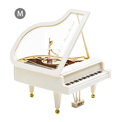 Samber Klavier-Spieluhr mit Tanzen Ballett Mädchen Schmuck Aufbewahrungsbox Musik Box Kinderzimmerdekoration Weihnachtsgeburtstags-Hochzeits-Geschenk Spielzeug