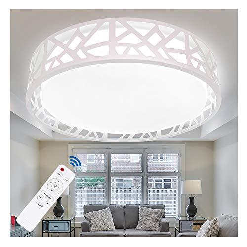 Flush Mount Ceiling Light Fixture, 15 Inch Ceiling Light for Bedroom, Ceiling Light with Remote Dimmable, 20W 3200 Lumens 3000K-6500K (3 Color Temperatures), Hallway LED Flush Light Fixture (White)