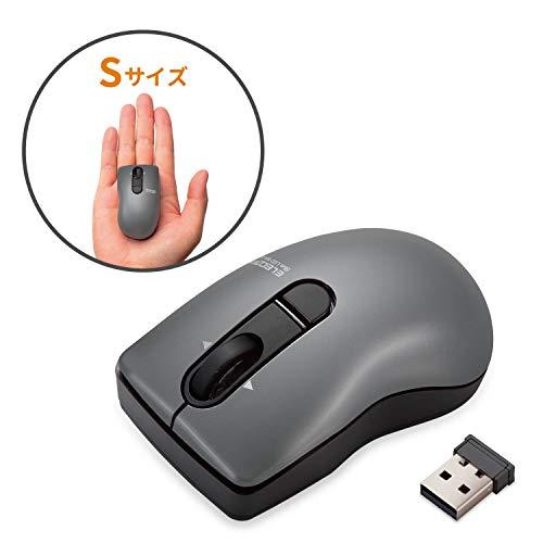 エレコム マウス ワイヤレス (レシーバー付属) Sサイズ 小型 3ボタン チルトホイール Micro Grast Switch ビット ブラック M-FBG3DBBK