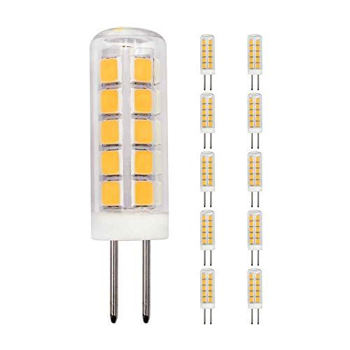 10er Pack LED Lampe G4 Nicht-dimmbar 2W Ersetzt 20W Warmweiß AC DC 12V 3000K 220Lm Schlafzimmer Wandleuchte Wohnzimmer Kronleuchter Mini Klein Leuchtmittel [MEHRWEG]