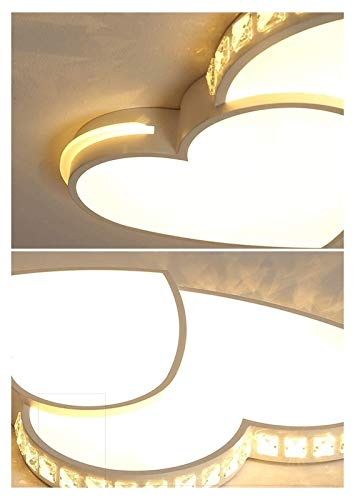 Wuyuana Luz de Techo Linterna De Hierro Duradera 6 Cm Lámpara Led Delgada Dormitorio Araña De Techo Lámpara De Dormitorio Creativo Niña Nórdica Única Lámpara De Araña 62 * 45 Cm (Color : Yellow)