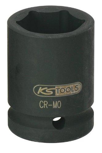 """KS Tools 515.1327 Llaves de Vaso de Impacto, pavonado (tamaño: Hexagonal, 27 mm, 3/4""""), 10.2 cm"""