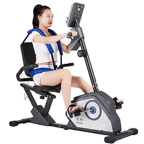 HAIJIN Bicicleta de Ejercicios reclinada magnética - Máquina de Ciclo para Personas Mayores Ciclo de Ejercicios de rehabilitación de Fisioterapia para Personas Mayores, Bicicleta de Ejercicios