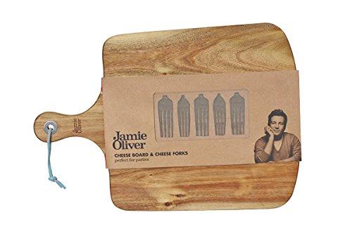 Jamie Oliver Käsebrett mit Käsegabeln (6-teilig)