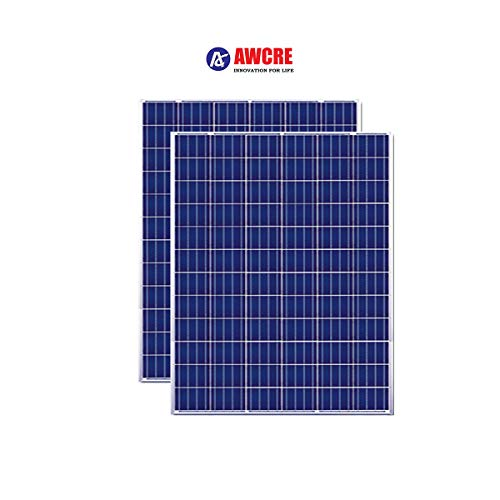 AWCRE - 200W,12V Polycrystalline Solar Panel -Pack of 2