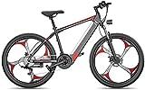 Bicicleta eléctrica de nieve, Bicicleta eléctrica 26 pulgadas Neumático de grasa Nieve Bicicleta de nieve Bicis de montaña Doble disco Freno de aleación de aluminio para adultos y adolescentes, para d