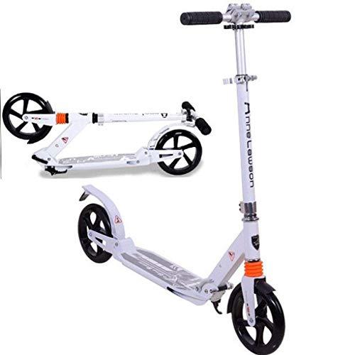ZHZHUANG Scooter Portátil para Niños Y Adultos Comutador Urbano Adulto Adolescente Niños Altura Ajustable Altura Fácil Plegable de Carbono Diseño de Freno de Carbono Suave Portátil Scooter Clásico,Bl