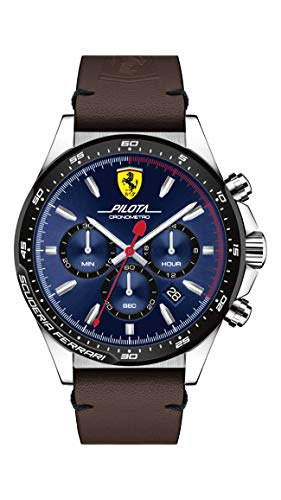 Scuderia Ferrari 830435 Herenhorloge chronograaf kwarts horloge met lederen armband