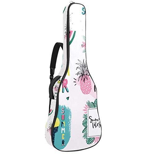 Summertime Tropical Elements Gitarrentasche für E-Gitarre, gepolstert, mit gepolstertem Griff und Schultergurt
