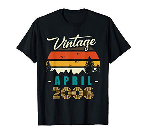 Vintage April 2006 Happy 15rd Birthday 15Years Old Funny T-Shirt