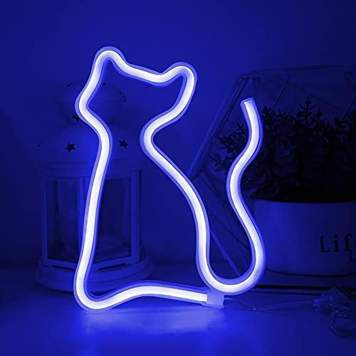 Colording Luces de neón Señales de gato LED Luz de pared Decoración...
