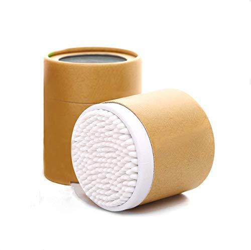 400 pièces cotons-tiges bourgeons, 7 cm Bâtons en Bambou Coton avec double Précision Conseils Tampon de nettoyage Coton Bâtons de Bambou cotons-tiges, 2packs, 200 pièces Lot de 1