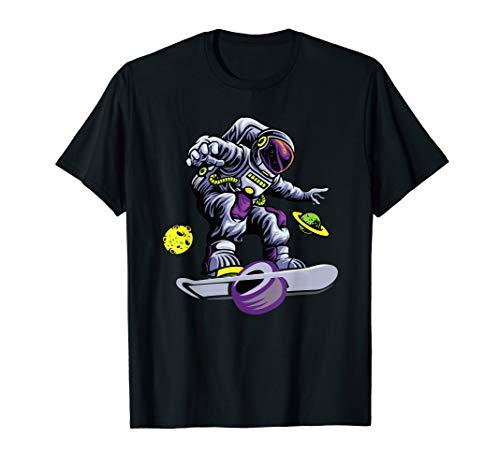 Skating astronaut on onewheel skateboard T-Shirt