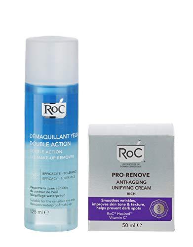 Pack Ahorro Roc Pro-Renove Crema Anti-Edad + Desmaquillante de OjosBifásico