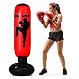 Punching Bag for Kids, 63inch Boxing Bag Red Anger Bag Free Standing Punching Bag with Stand for Practicing Karate, Taekwondo, MMA and to Release Adults and Kids Energ (Boxing)