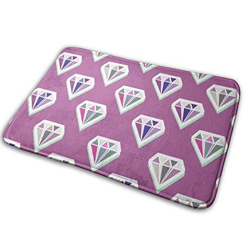 N \ A Non-Slip Welcome Door Mat Flannel Modern Diamonds Abstract Seamless Pattern Soft Floor Bath Mat Indoor/Outdoor Carpet 40x60cm-89